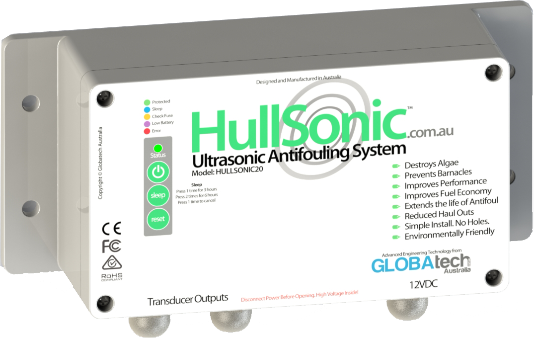 marine biofouling prevention with ultrasonic antifouling hullsonic20